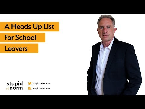 A Heads Up List For School Leavers
