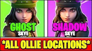Find GHOST Ollie at FRENZY FARM & Find SHADOW Ollie at WEEPING WOODS Locations (Fortnite SKYE)