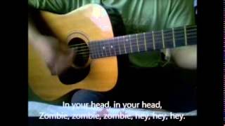 The Cranberries - Zombie (karaoke, with lyrics, acoustic cover)