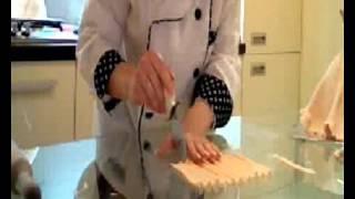 Как легко драпировать торт.