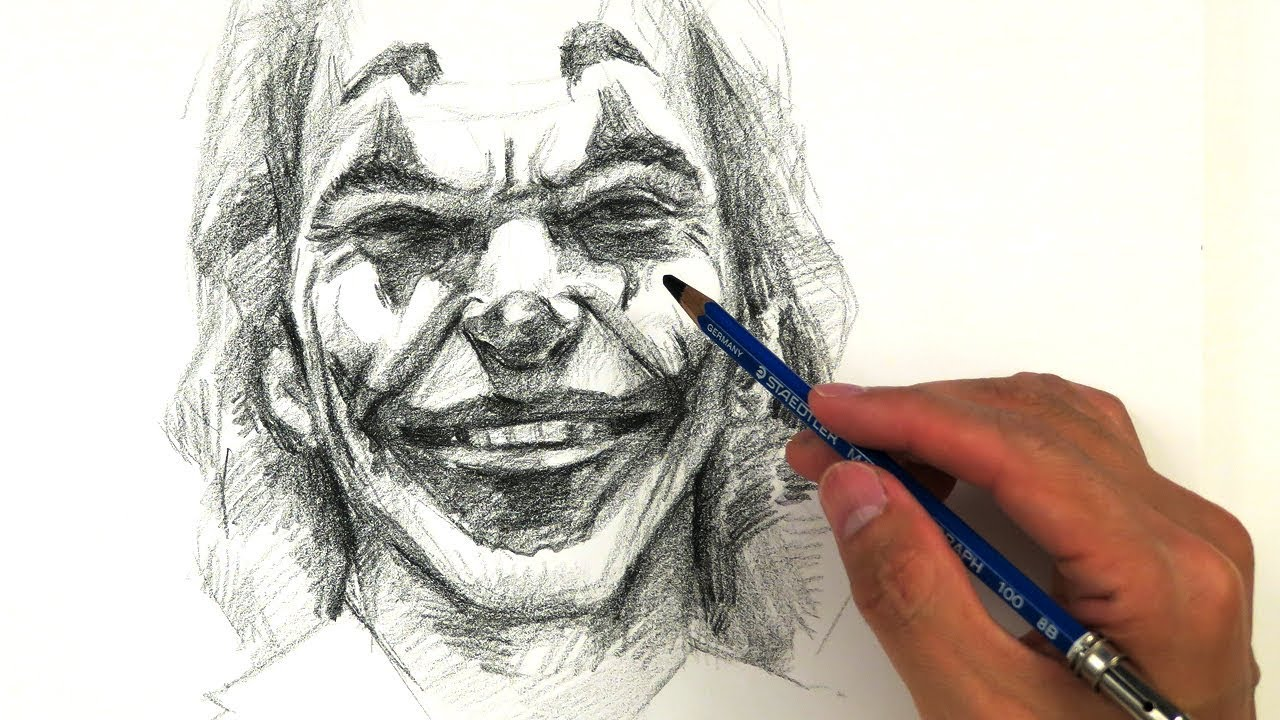 Drawing The Joker Joaquin Phoenix