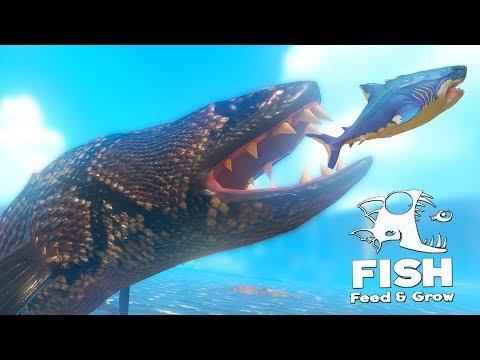 ГИГАНТСКАЯ РЫБА ЗМЕЯ В ОКЕАНЕ! МЕГАЛОДОН В ШОКЕ | Feed And Grow Fish