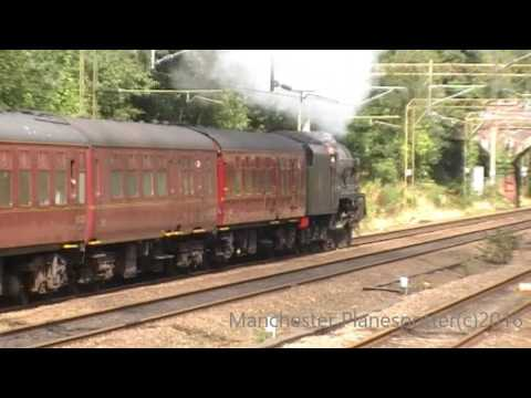 The North Wales Coast Express With Scots Guardsman LMS 46115 Passing Heaton Chapel On 21/08/2016