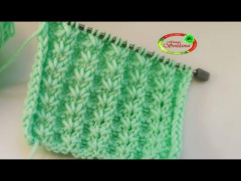 №64 Сказочно красивый узор спицами для шапочки или детских вещей  Knitting Pattern