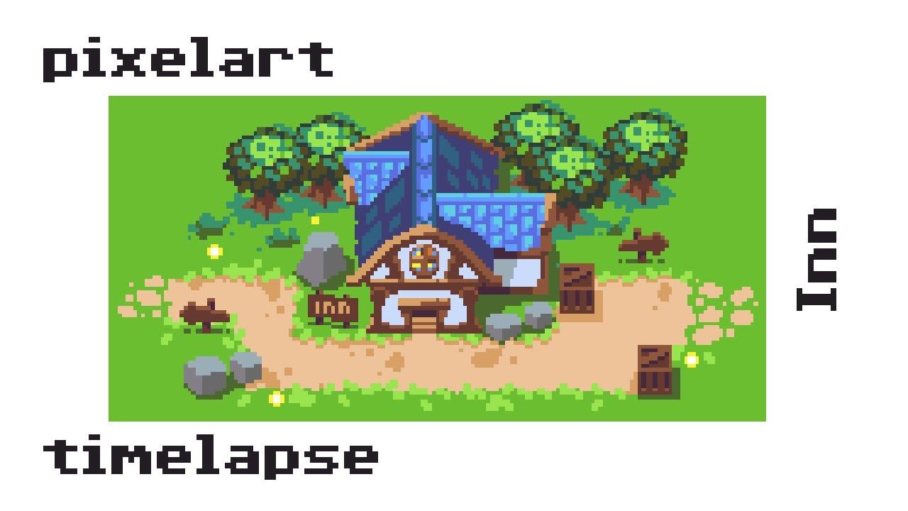 [Timelapse] #Pixelart - Fantasy Inn