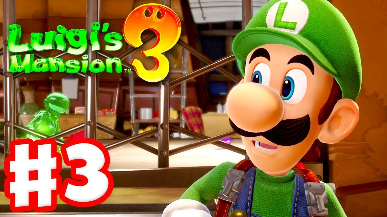 Luigi S Mansion 3 Gameplay Walkthrough Part 3 Luigi Gooigi 3f Hotel Shops Nintendo Switch