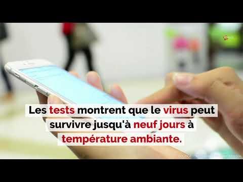 Combien de temps le coronavirus peut-il vivre sur une surface (comme un smartphone) ?