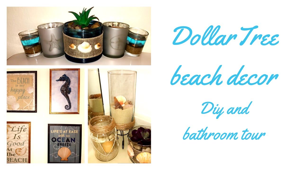 Dollar Tree DIY Beach Decor + Bathroom Dollar Tree Decor