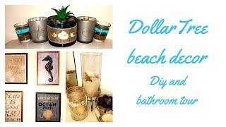 Dollar Tree DIY Beach Decor + Bathroom Dollar Tree Decor