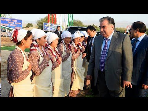 Рахмон посетил фермерские хозяйства и открыл ряд предприятий