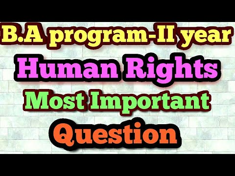 SOL.B.A program-II year Human Rights most Important Question|| Human Rights Exam me aane waale Quest
