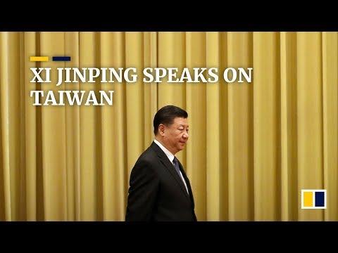 Chinese President Xi Jinping speaks on Taiwan