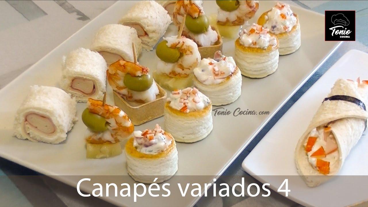 canap s variados 4 aperitivos fr os f ciles y ricos