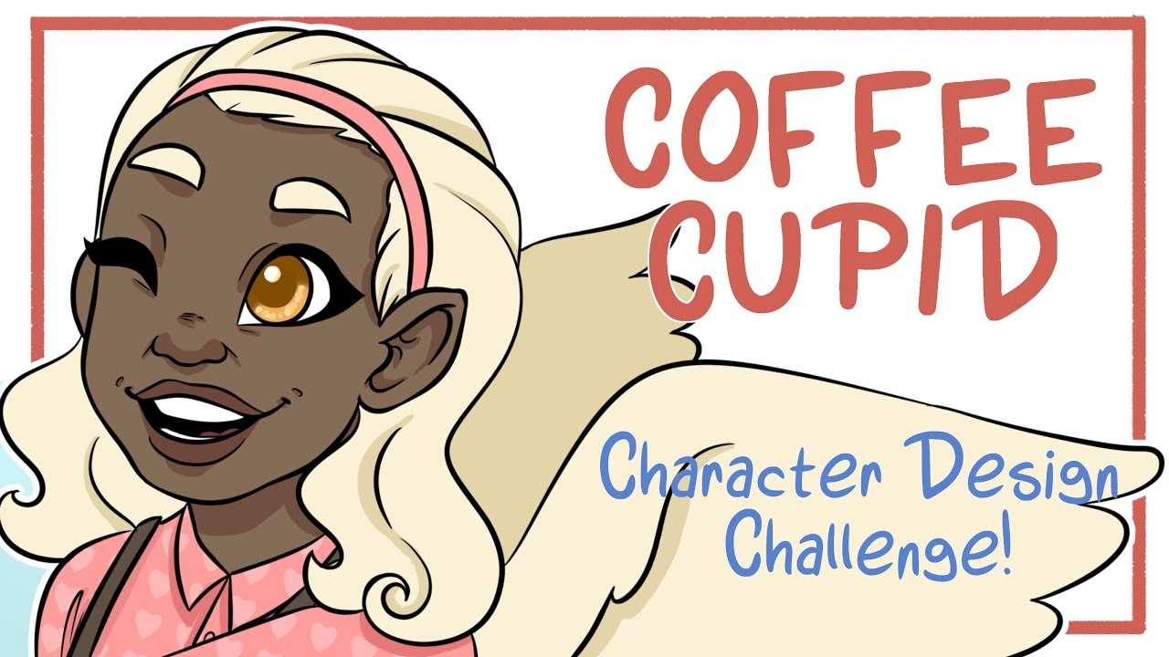 Coffee Cupid Character Design Challenge Aesthetic Drawing Ideas