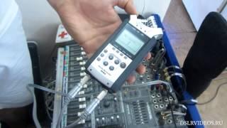 Как подключить рекордер к пульту/ How to plug in recoder Zoom H4N to mixer