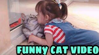 Baby and cat 🐱🐱fun fails😄funny baby videos   مواقف مضحكةجدا للقطط مع الاطفال الصغار