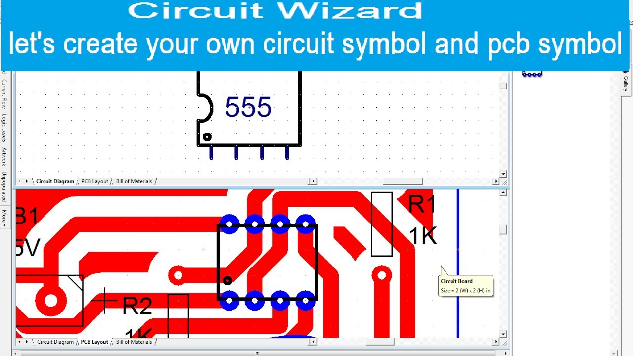 Circuit Wizard Lets Create Your Own Symbol And Pcb Basic Diagram Symbols