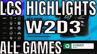 LCS Highlights ALL GAMES W2D3 Summer 2021
