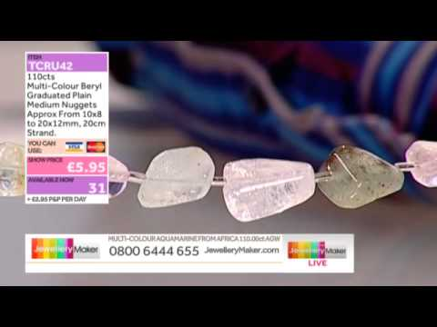 Pink Quartz beads for Jewellery Making with JewelleryMaker late show LIVE 16/03/14