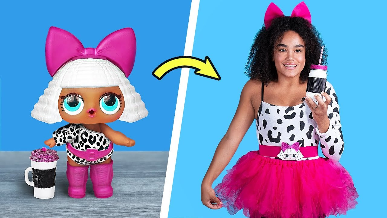 [VIDEO] - LOL Surprise Dolls In Real Life / 10 LOL Surprise Hairstyle And Clothes Ideas 7