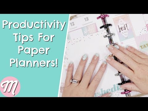 💡Productivity Tips For Your Paper Planners! Make Your Happy Planner More Productive!