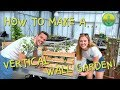 How to Make a Vertical Wall Garden! | Maddie Moate