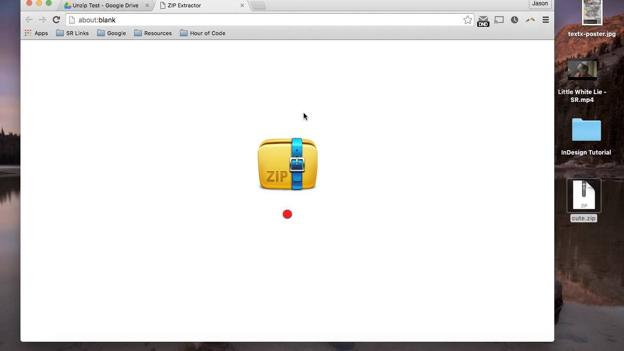 Unzip with Google Drive