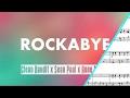 Rockabye SHEET MUSIC { Violin And Saxophone Duet }