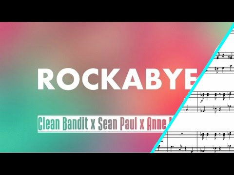 Rockabye SHEET MUSIC { Violin And Saxophone Duet }