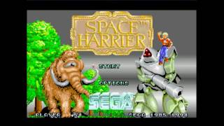 Space Harrier - Me playing space harrier and sucking - User video