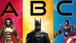 ABC Superhero Song Superhero ABC Song Learn The Alphabet With Superheroes Animated Nursery Rhymes