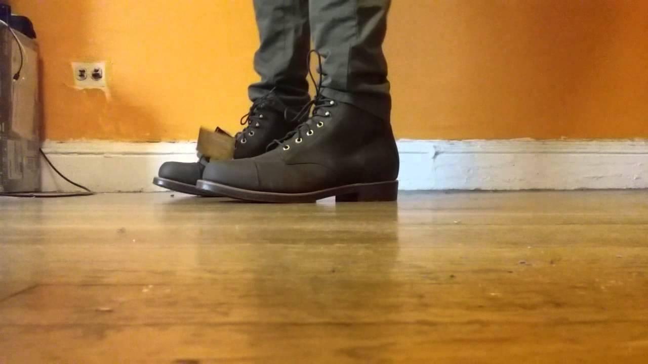 Ll Bean Kathadin Iron Works Boot On Feet Youtube