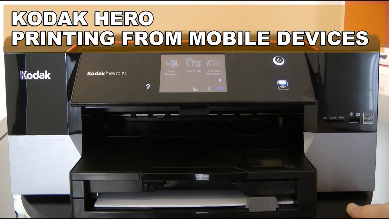 kodak hero 7 1 printer printing from mobile devices youtube