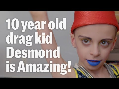 Drag Kid Desmond is a ten-year-old aspiring Drag Queen