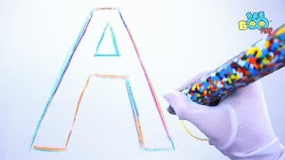 Learn ABC Alphabet A - Z with Big Rainbow Crayon | Learn Colors for Kids