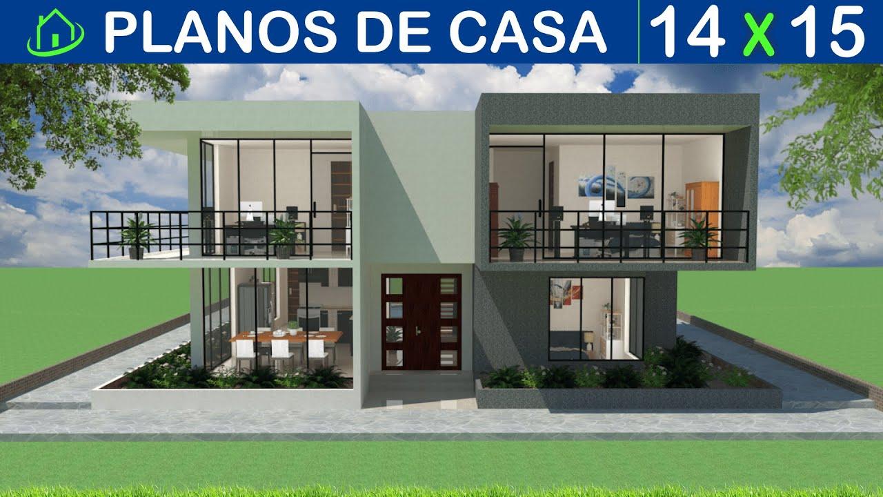 dise os y planos de casa 2 pisos minimalista futurista