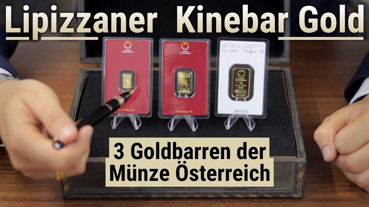 Goldbarren Lipizzaner Kinebar Gold 3 Goldbarren Der Münze