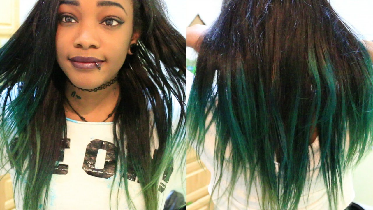 dying my hair bluegreen ombre youtube