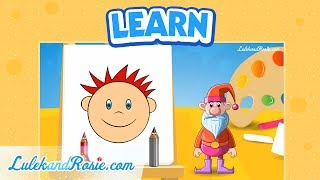How to draw a face? - Drawing school (part4) Tutorial for children LulekandRosie.com
