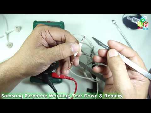 Samsung Earphone Working, Tear Down & Repairs