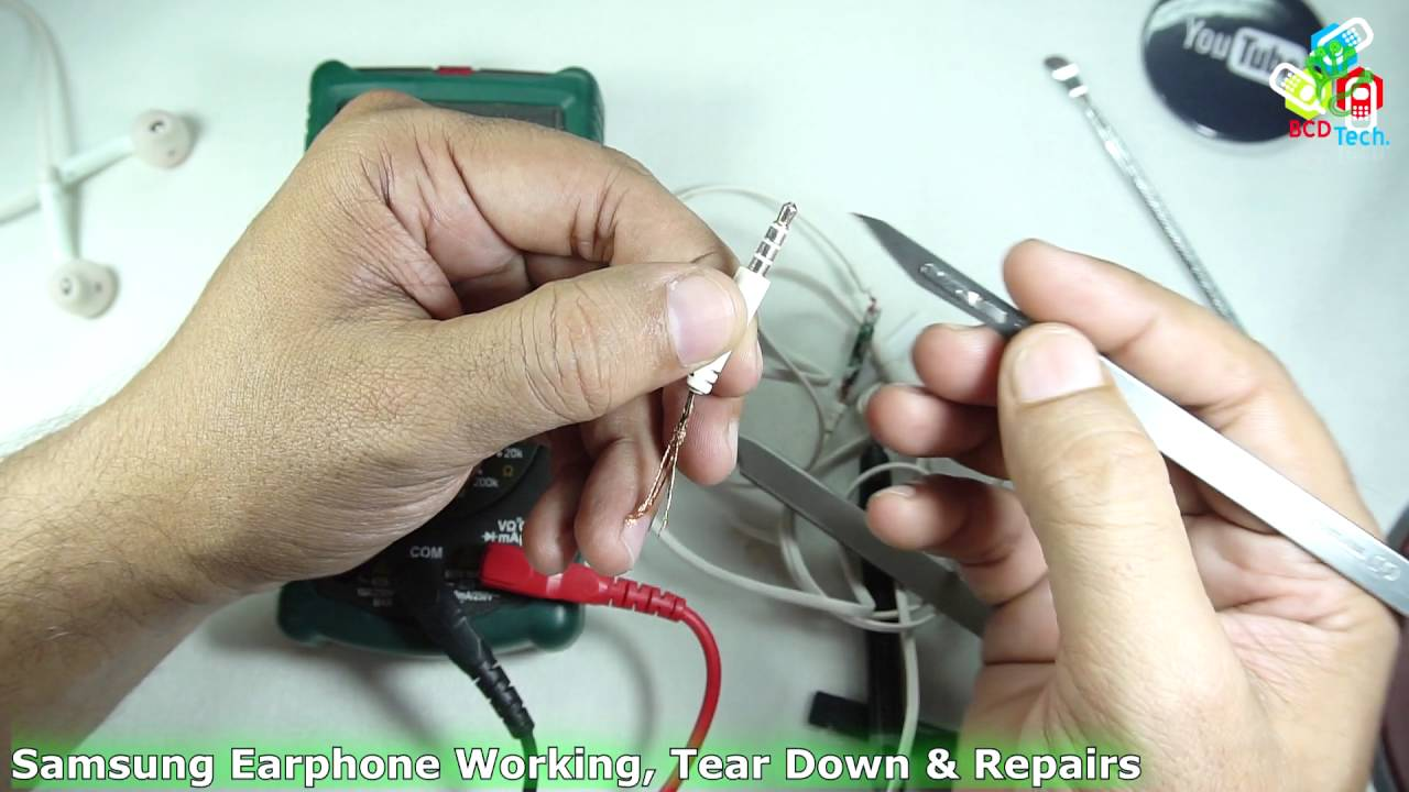 Samsung Earphone Working, Tear Down & Repairs - YouTube