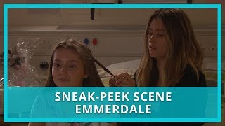 Emmerdale spoilers: Sarah urges Debbie to marry Joe - watch the scene