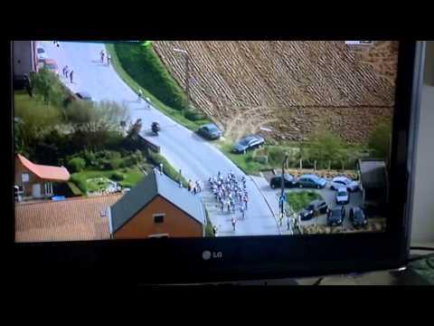 Per La Serie il Grande Ciclismo Arrivo del Giro delle Fiandre 2014