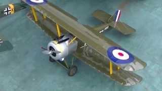 複葉機 ソッピースキャメル 白川にはドイツ軍機に手が伸びるラジコン愛...