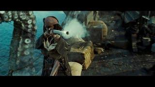 Сражение с Кракеном. Возвращение Капитана Джека Воробья. HD