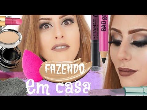 Fazendo produtos de maquiagem em CASA!? Sem gastar nada!?