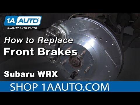 How to Replace Front Brakes 03-05 Subaru WRX