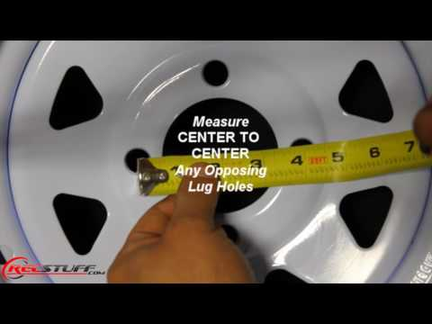 How To Measure The Bolt Pattern Of A 4-Lug Wheel