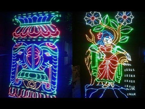Gorgeous Lighting in Maa Raksha Kali Puja 2016  YouTube