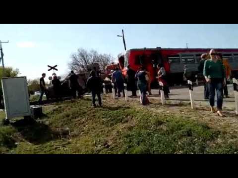 Авария на ж/д переезде Невинномысск 29.04.2017